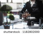 virtual touch screen. project... | Shutterstock . vector #1182802000