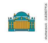 cathedral architecture icon.... | Shutterstock .eps vector #1182807916
