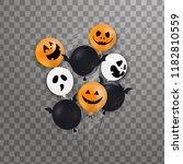 happy halloween. flying shiny ... | Shutterstock .eps vector #1182810559