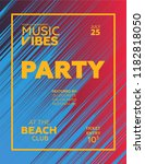 party poster for night club.... | Shutterstock .eps vector #1182818050