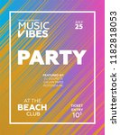 party poster for night club....   Shutterstock .eps vector #1182818053