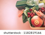 breakfast or lunch with healthy ... | Shutterstock . vector #1182819166