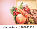 breakfast or lunch with healthy ... | Shutterstock . vector #1182819190