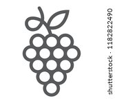 grapes line icon  fruit and... | Shutterstock .eps vector #1182822490