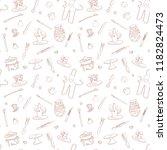 clay pottery studio seamless... | Shutterstock .eps vector #1182824473