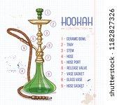 illustration  big hookah... | Shutterstock . vector #1182827326