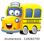 illustration of School bus cartoon vector - stock vector