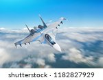 combat fighter jet on a... | Shutterstock . vector #1182827929