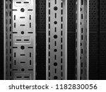 galvanized perforated cable... | Shutterstock . vector #1182830056
