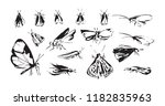 set of hand drawn stylized... | Shutterstock .eps vector #1182835963