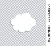 dream cloud white color with...   Shutterstock .eps vector #1182838909
