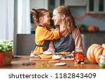 happy halloween  family mother... | Shutterstock . vector #1182843409