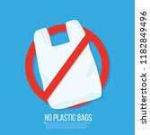 no plastic bag icon vector flat ... | Shutterstock .eps vector #1182849496