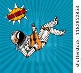 pop art astronaut musician... | Shutterstock .eps vector #1182852853