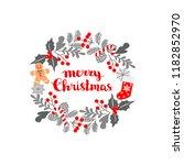 winter christmas frame  vector... | Shutterstock .eps vector #1182852970