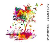 multicolored abstraction with a ... | Shutterstock .eps vector #1182854149