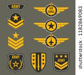 army and military badge set.... | Shutterstock . vector #1182869083