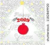 happy new year.holiday scene... | Shutterstock .eps vector #1182869920