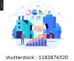 business series  color 2   b2b. ... | Shutterstock .eps vector #1182876520
