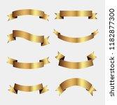 set of golden ribbons vector.   Shutterstock .eps vector #1182877300