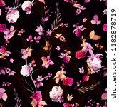 stylized seamless floral... | Shutterstock .eps vector #1182878719