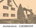matte background. white house...   Shutterstock . vector #1182880339