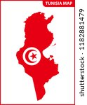 the detailed map of tunisia... | Shutterstock . vector #1182881479
