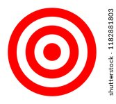 simple circle target template.... | Shutterstock . vector #1182881803
