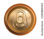golden can top view isolated on ... | Shutterstock . vector #1182884443