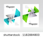 magazine template with two... | Shutterstock .eps vector #1182884803