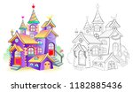 colorful and black and white... | Shutterstock .eps vector #1182885436