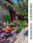 classic and elegant aegean... | Shutterstock . vector #1182886483