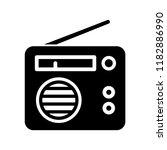 radio icon flat style  | Shutterstock .eps vector #1182886990