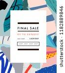 creative sale header or banner... | Shutterstock .eps vector #1182889846