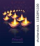 diwali festival cards. diwali... | Shutterstock .eps vector #1182891100