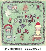 set of christmas and new years... | Shutterstock .eps vector #118289134