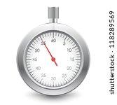 vector illustration of stopwatch | Shutterstock .eps vector #118289569