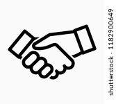 outline shaking hand pixel... | Shutterstock .eps vector #1182900649