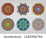 decorative round ornaments set  ... | Shutterstock .eps vector #1182906796