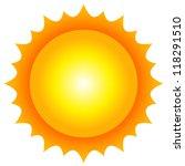 vector illustration of sun | Shutterstock .eps vector #118291510