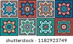 talavera pattern.  indian... | Shutterstock .eps vector #1182923749