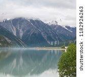 ranwu lake tibet china | Shutterstock . vector #1182926263