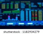 blur stock market graph... | Shutterstock . vector #1182934279