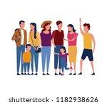 cute family cartoon | Shutterstock .eps vector #1182938626