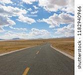 wild field highway  | Shutterstock . vector #1182940966