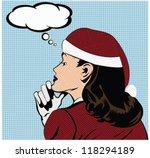 christmas illustration of a...   Shutterstock .eps vector #118294189