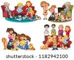 a set of family member...   Shutterstock .eps vector #1182942100