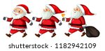 a set of santa claus with... | Shutterstock .eps vector #1182942109