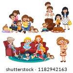 a set of family member...   Shutterstock .eps vector #1182942163