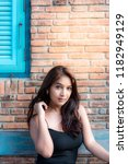 fashionable asian woman | Shutterstock . vector #1182949129